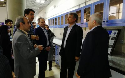 Dr. Borumand Deputy Research and Technology of Ministry of Science and Technology visited the Membrane Research laboratory